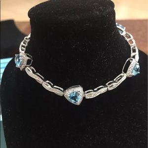 Jewelry - Blue Topaz and Diamond Bracelet